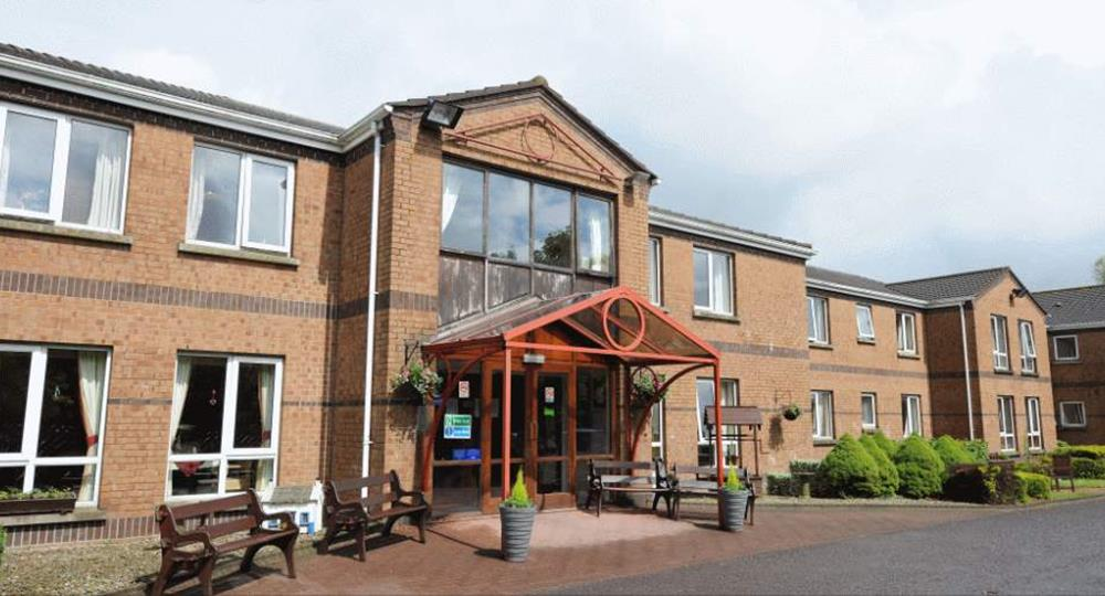 entrance of a care home in County Down