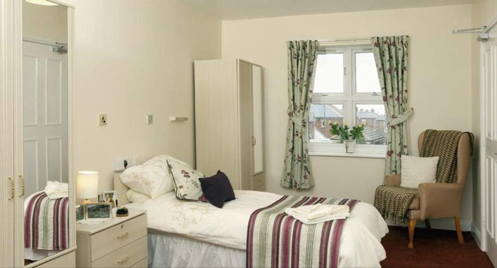 bedroom of a care home in Consett