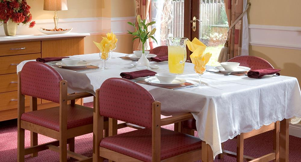 dining room of a care home in Belfast