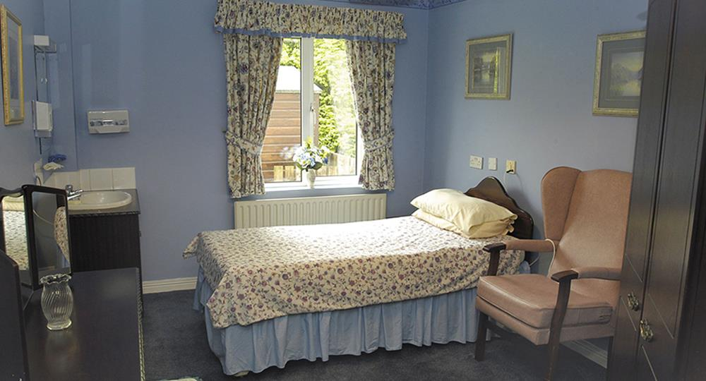 bedroom of a care home in Ballymena