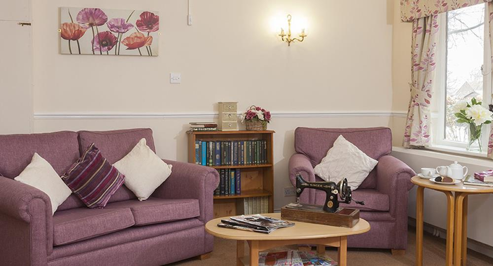 lounge area of a care home in Rochester