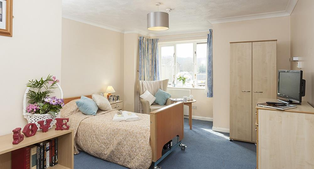bedroom of a care home in Rochester