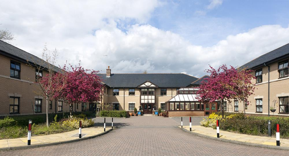 entrance of a care home in Durham