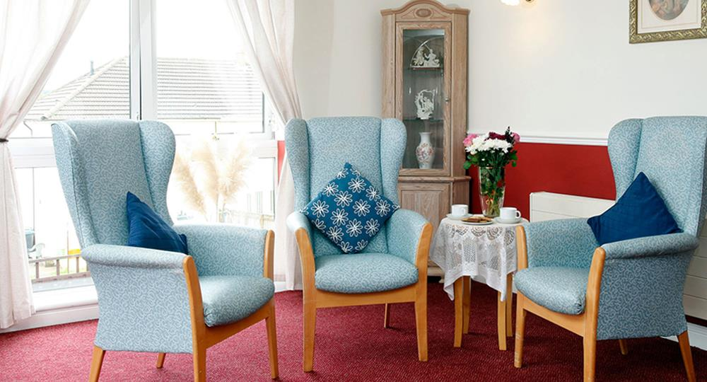 lounge area of a care home in Stanley