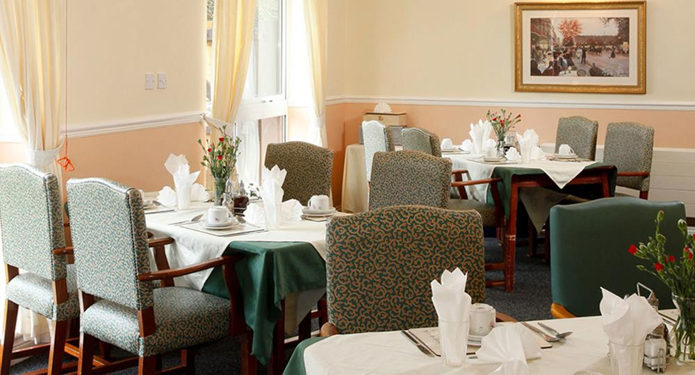dining area of a care home in Stanley