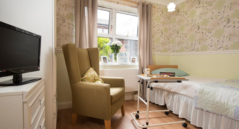 bedroom in a Consett care home