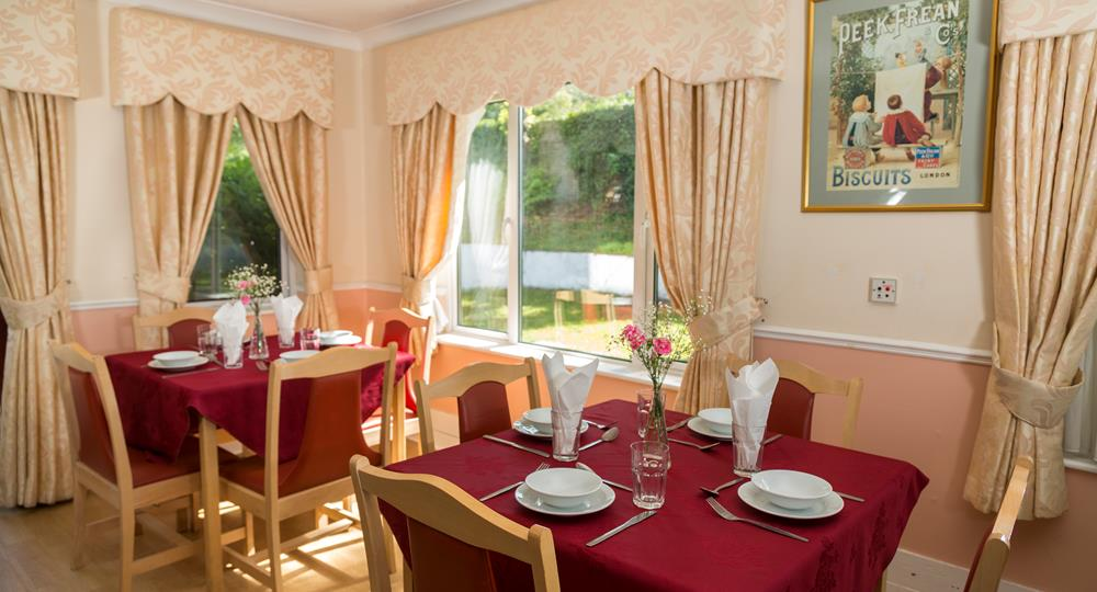 dining area of a London care home