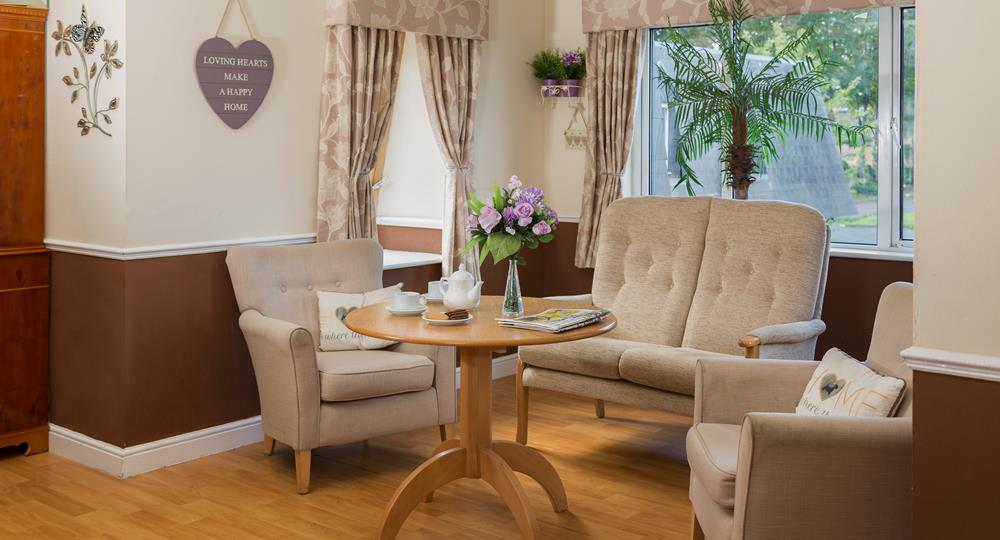 lounge area of a London care home