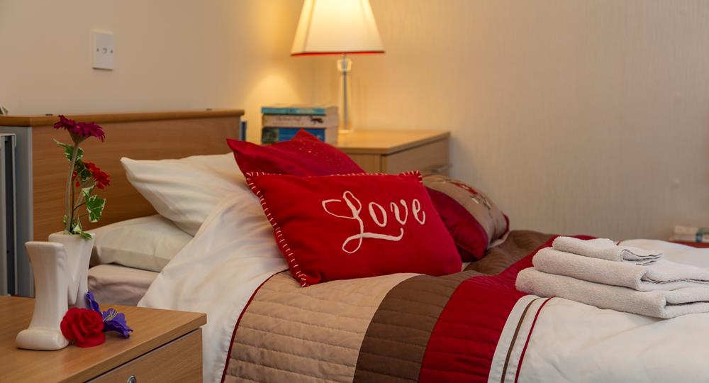 bedroom of a care home within London