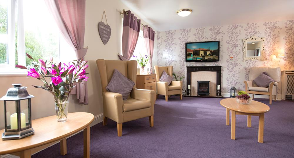 lounge area of a care home in Hexham