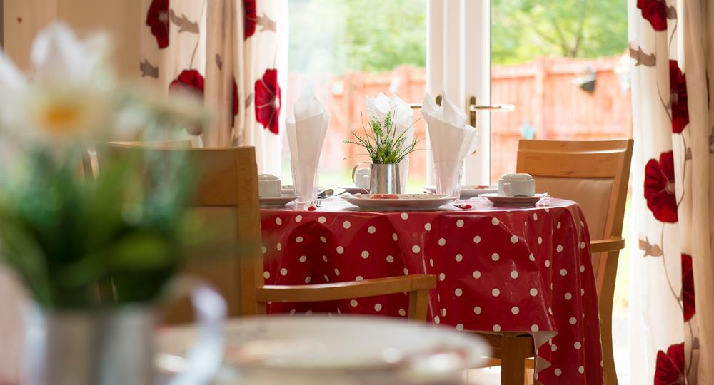 dining area of a care home in Hexham