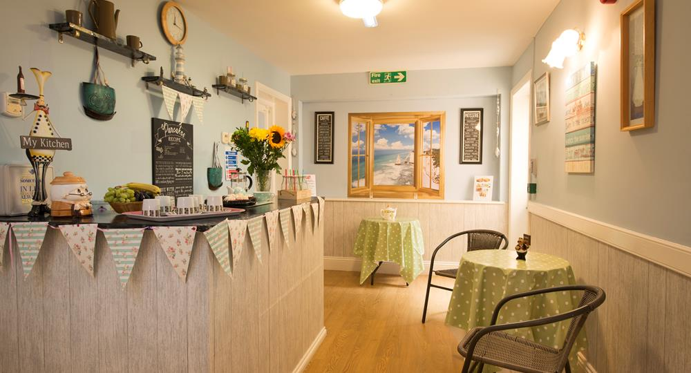 cafe area of a care home in Hexham