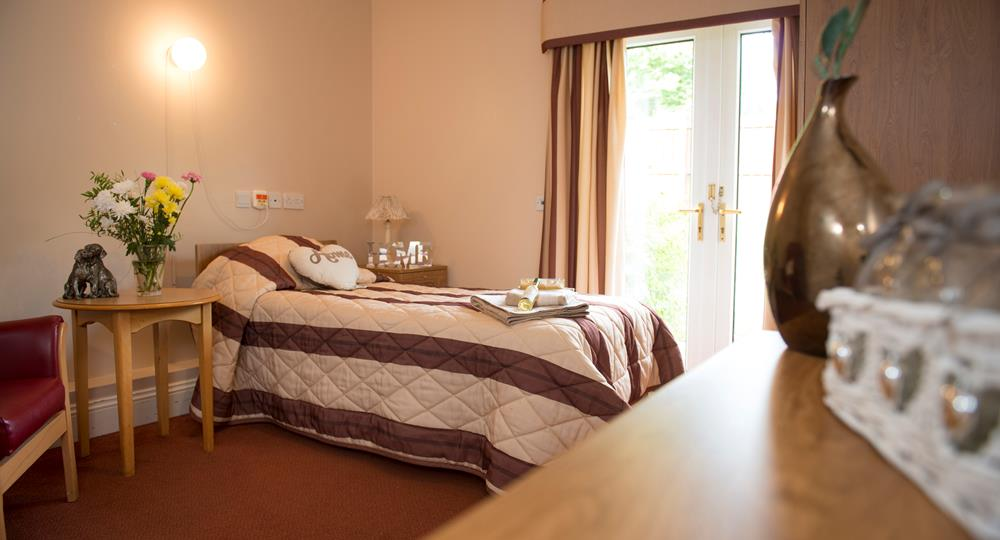 bedroom of a care home in Hexham