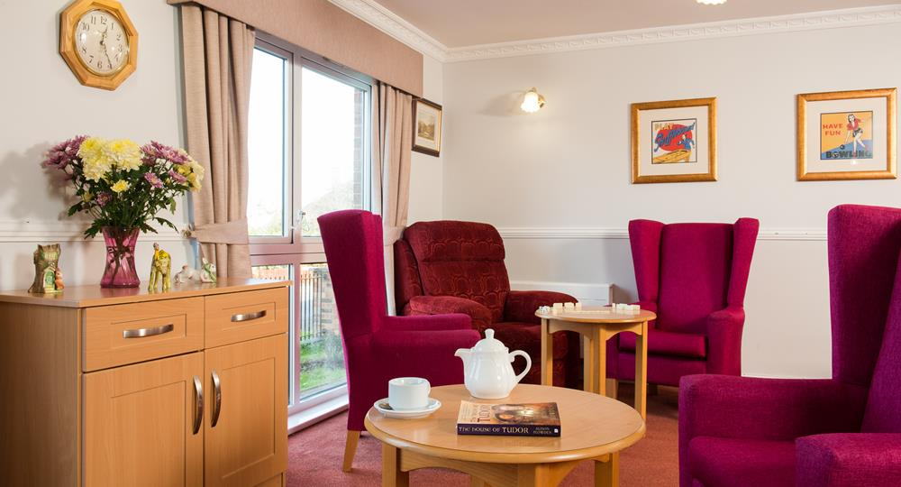 lounge area of a care home in Northumberland
