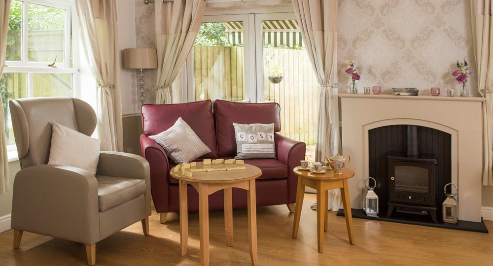 lounge area of a care home in Salford