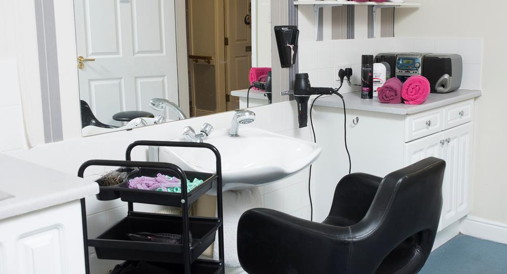 hairdressing salon in a care home in Salford