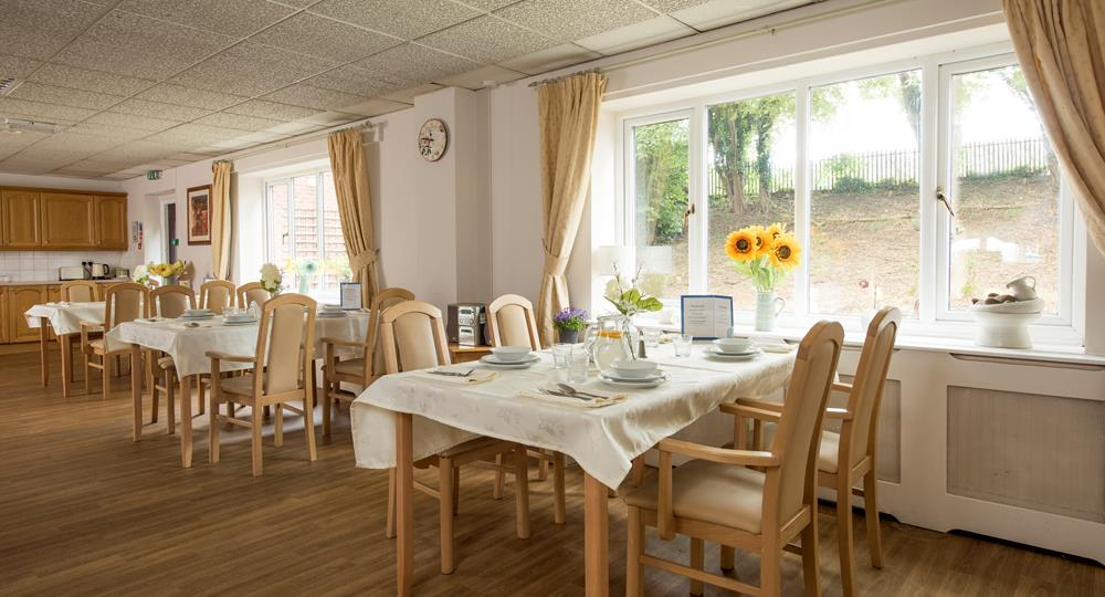 dining area of a care home in Mansfield