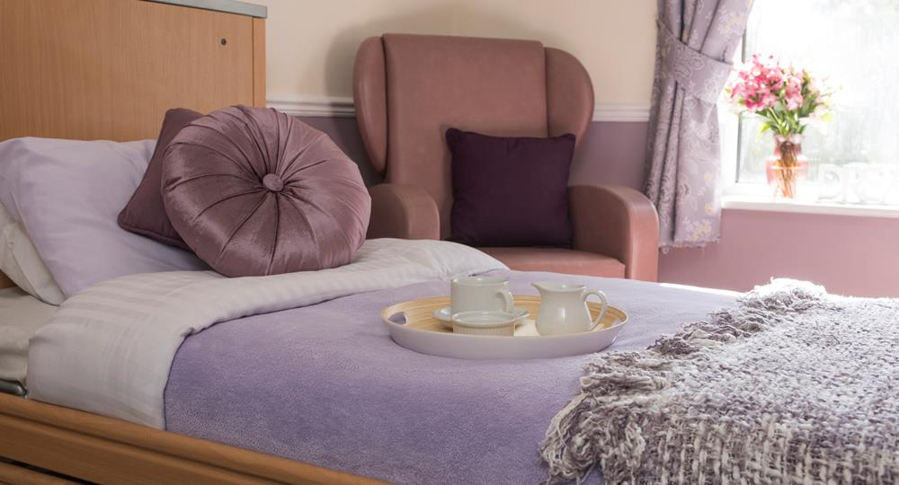 bedroom of a care home in Birkenhead
