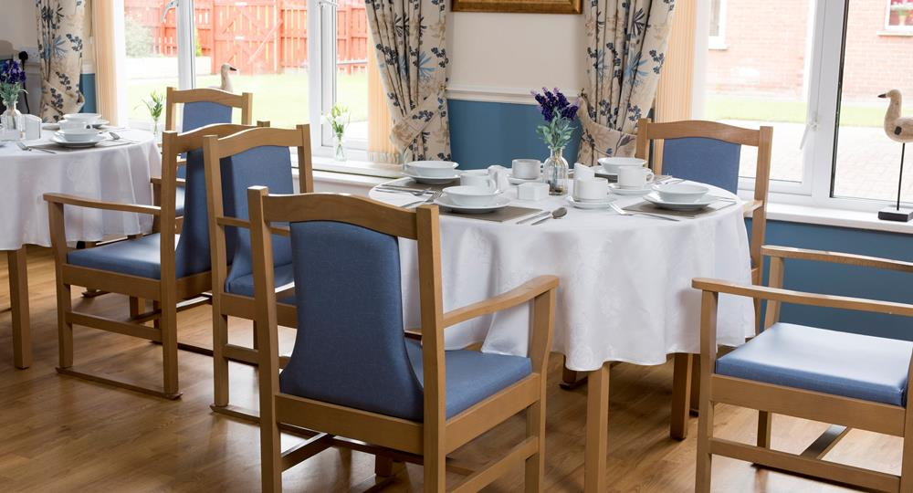 dining room of a care home in Preston