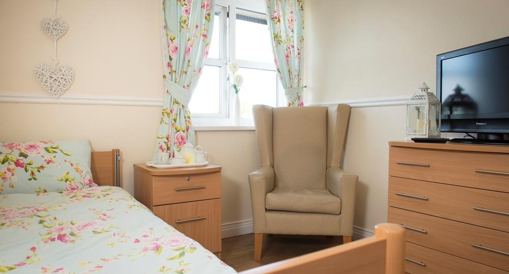 bedroom of a Consett care home
