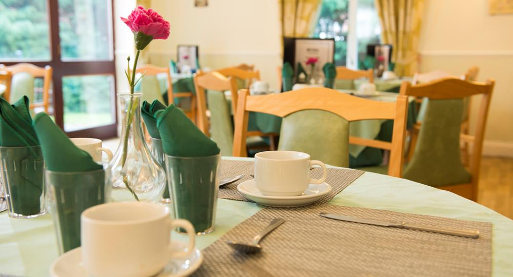 dining area of a care home in South Shields