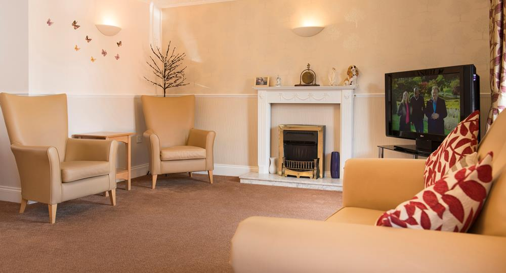 lounge area of a care home in South Shields