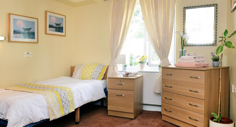 bedroom of a care home in Hednesford