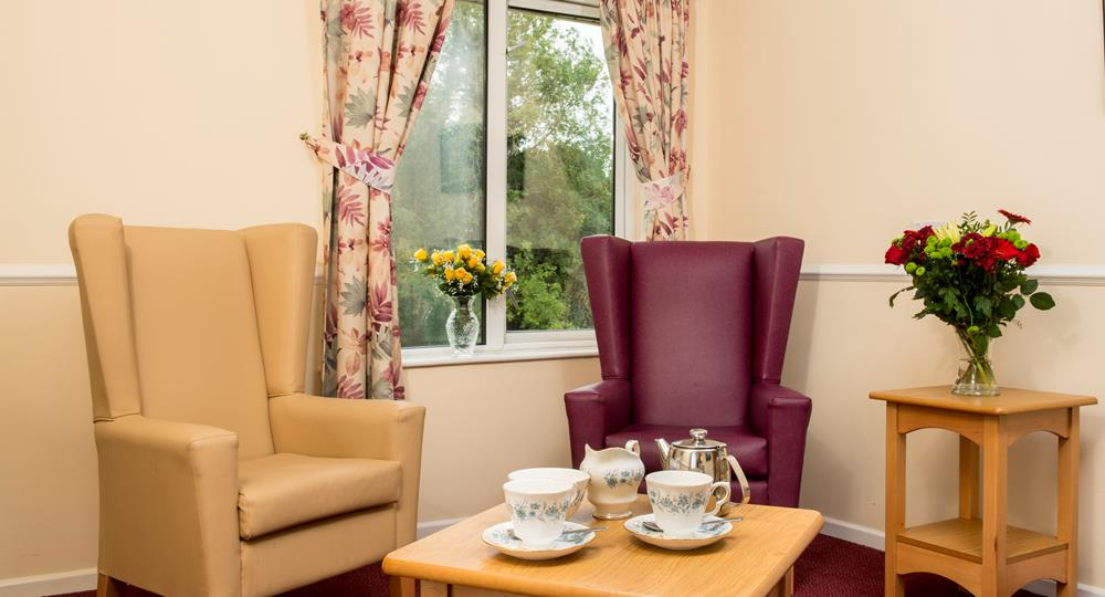 lounge space in a care home in Donaghadee