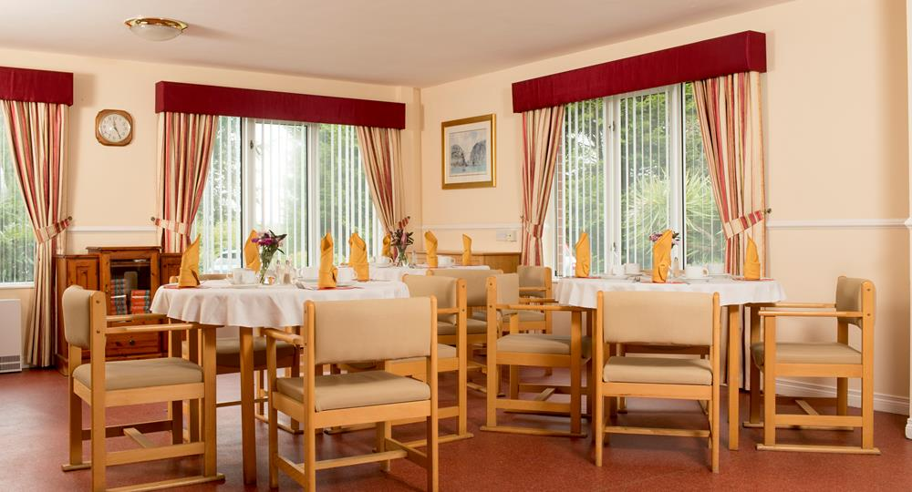 dining area of a care home in Donaghadee
