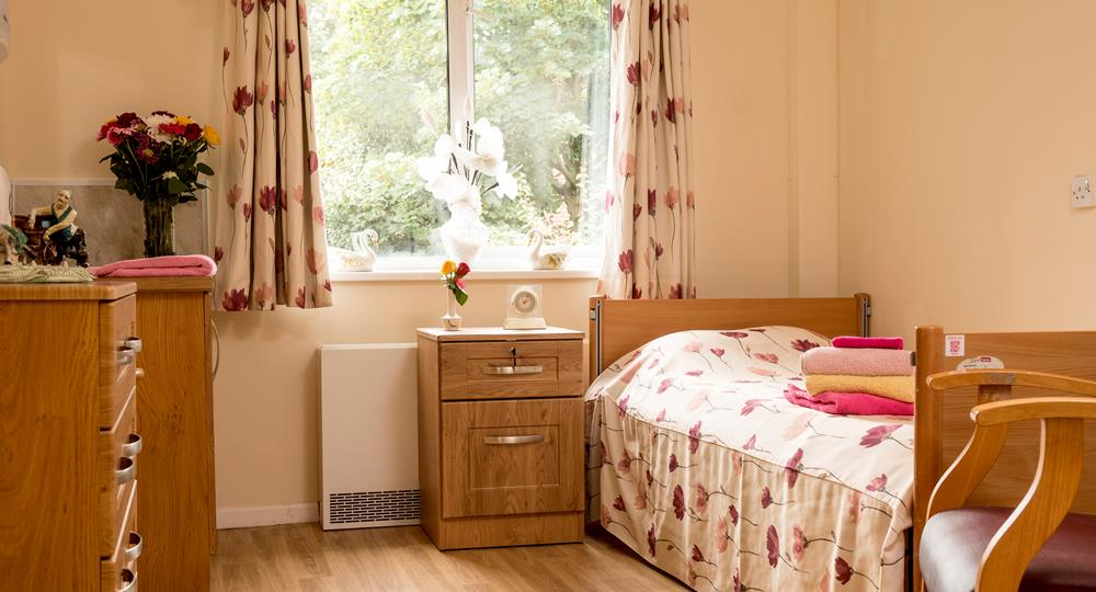 bedroom of a care home in Whiteabbey