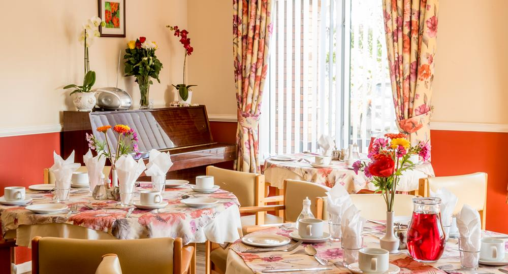 dining area of a care home in Whiteabbey