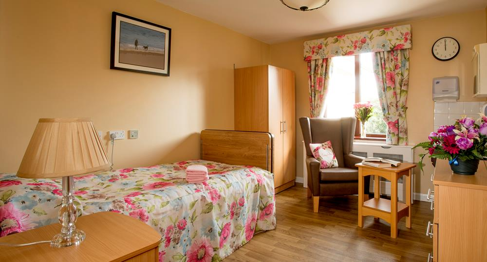 bedroom at a care home in Jordanstown
