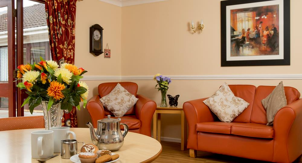 lounge area of a care home in Ballymena