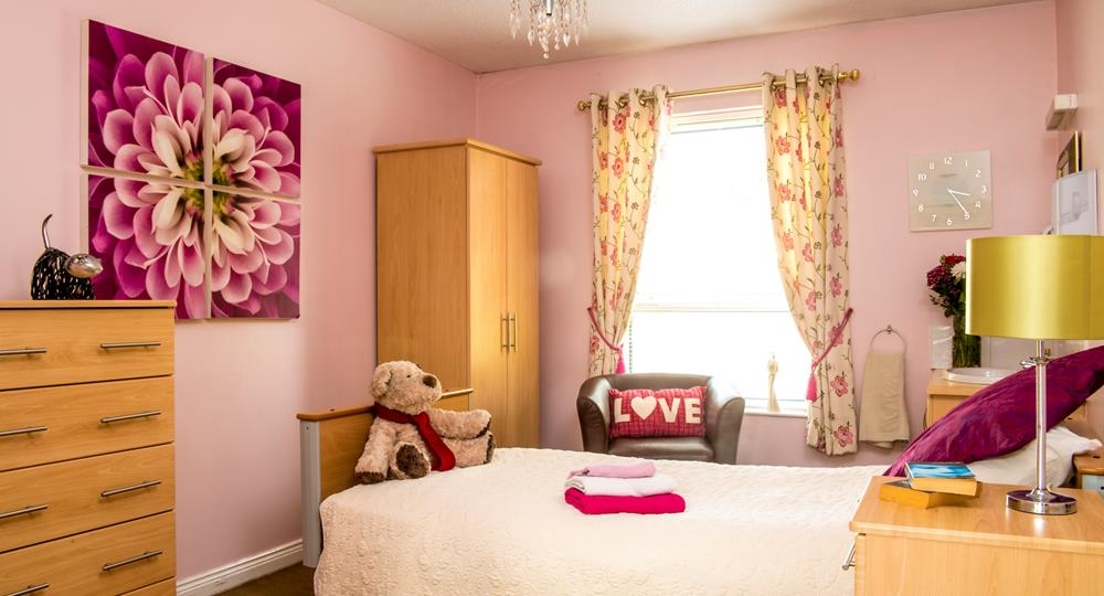 bedroom of a care home in County Down