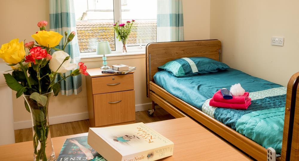 bedroom in a care home in Belfast