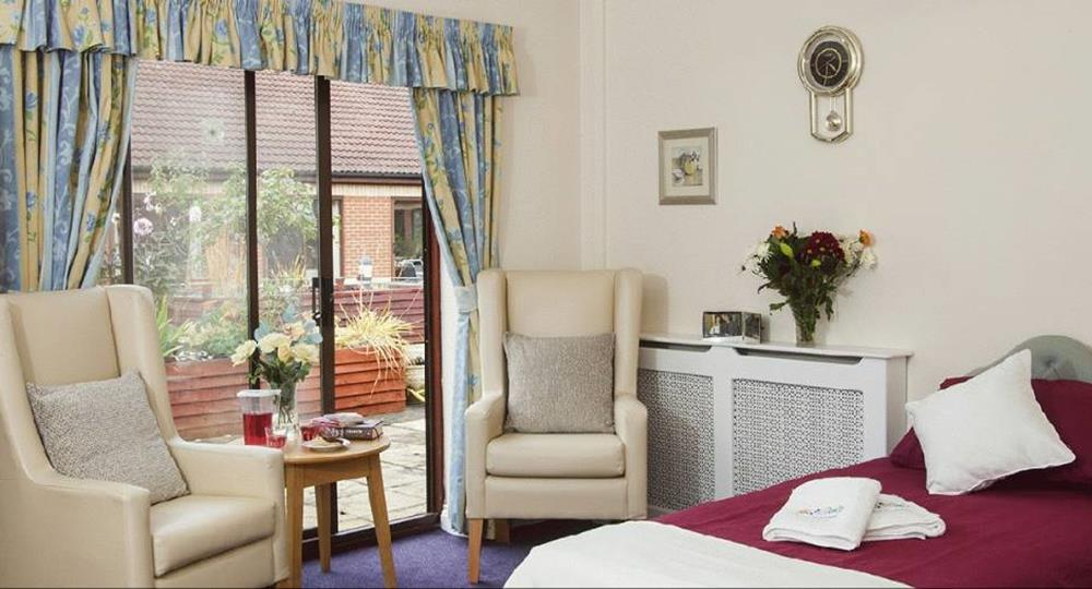 bedroom of a care home in Lincolnshire