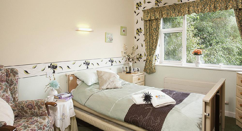 bedroom of a care home in Coventry