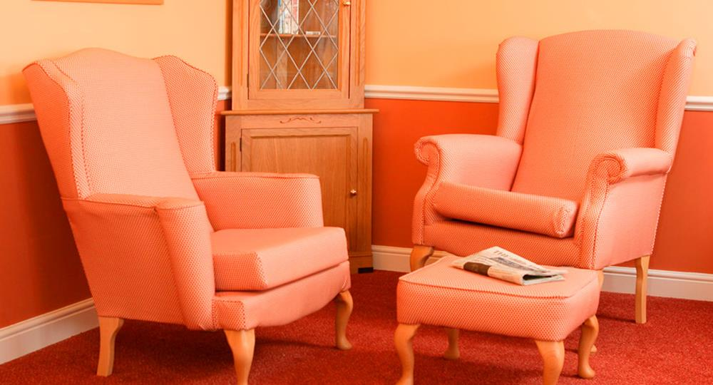 lounge area of a care home in Newmarket