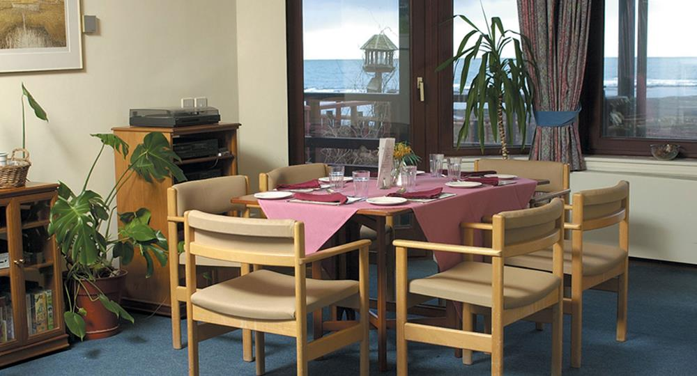 dining area of a care home in Dunbar