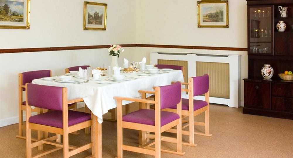 belfast care home dining area