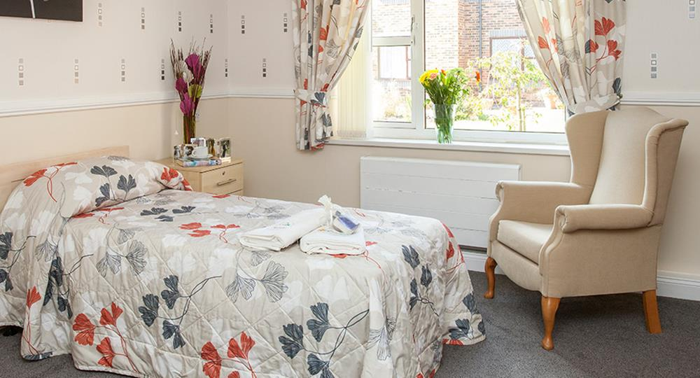 bedroom of a care home in Sunderland