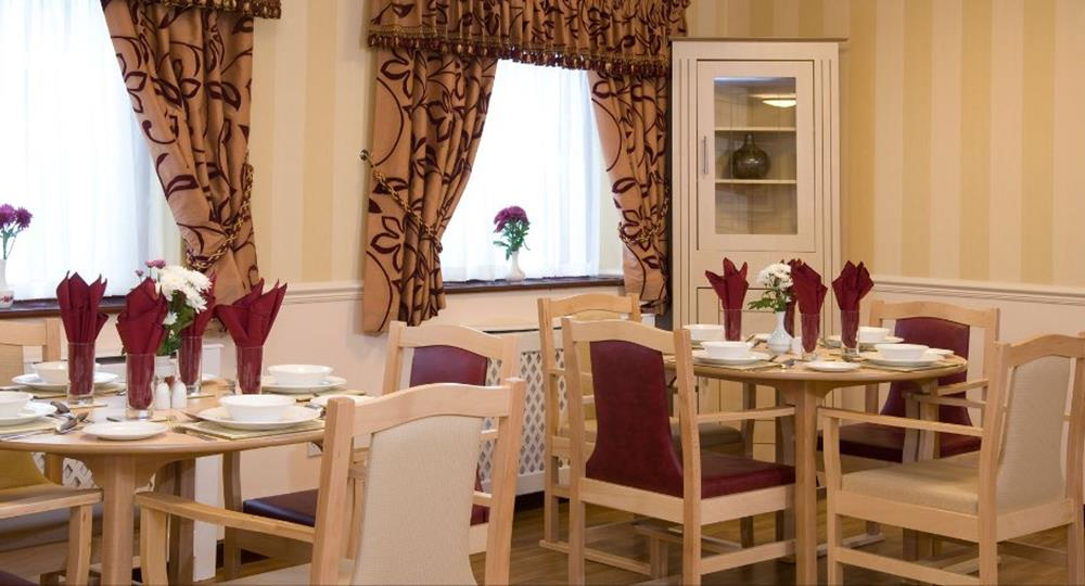 dining area of a care home in wymondham
