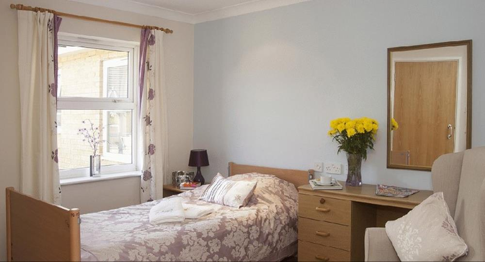 bedroom of a care home in cambridge