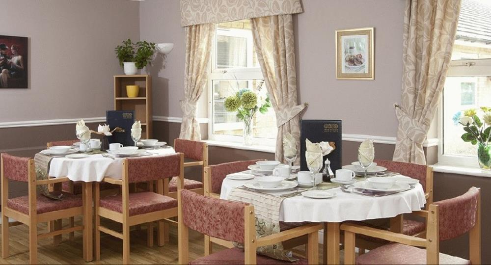 dining area of a care home in Cambridge