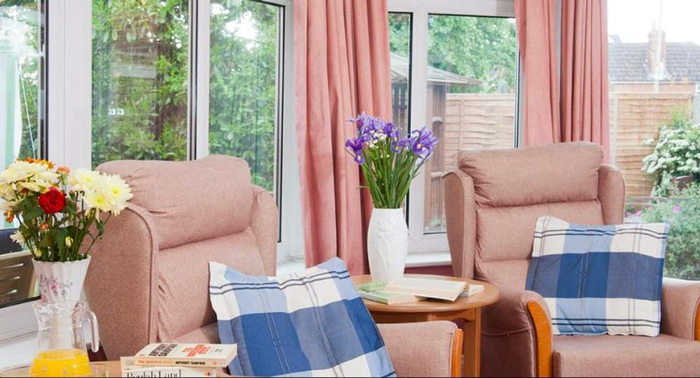 lounge area of a care home in wokingham