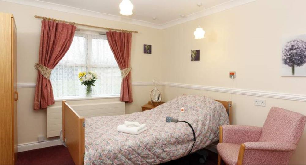 bedroom of a care home in Cramlington