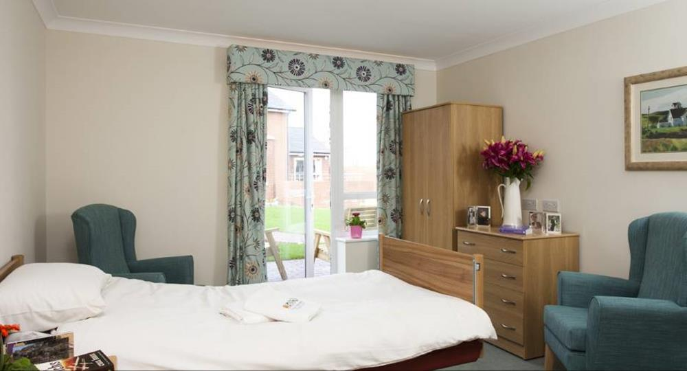 bedroom of a care home in Carlisle