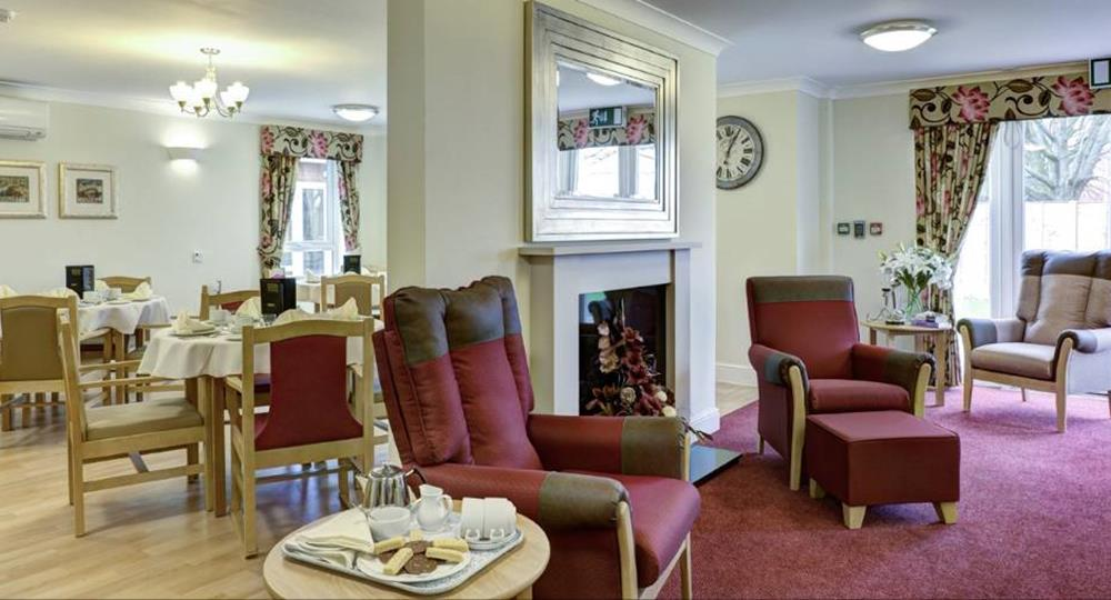 lounge area of a care home in Carlisle